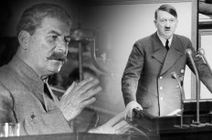Josef Stalin and Adolf Hitler