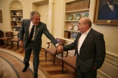 President Bush meets with Natan Sharansky